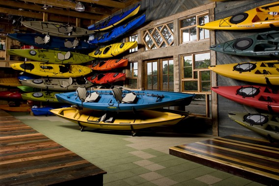 Our Kayak Room at Pack and Paddle